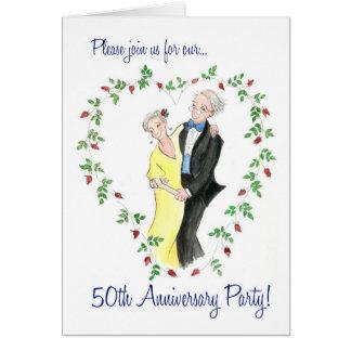 Fiesta de aniversario de la invitación 50.a tarjeta