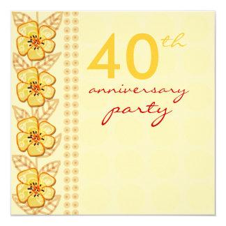 Fiesta de aniversario de moda del boda de las invitación 13,3 cm x 13,3cm