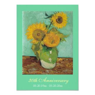 Fiesta de aniversario del boda de la bella arte invitación 11,4 x 15,8 cm