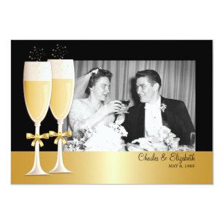 Fiesta de aniversario del boda de la foto 50.al invitación 12,7 x 17,8 cm