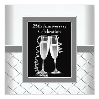 Fiesta de aniversario del boda de la plata de invitación 13,3 cm x 13,3cm