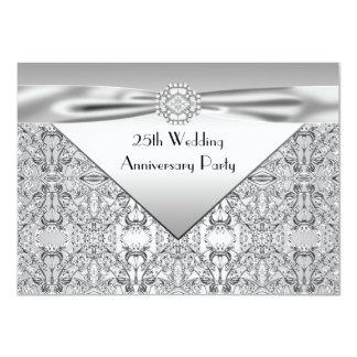 Fiesta de aniversario elegante de la bodas de invitación 11,4 x 15,8 cm