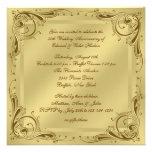 Fiesta de aniversario elegante del boda del oro 50