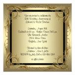 Fiesta de aniversario elegante del boda del oro 50 anuncios