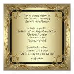 Fiesta de aniversario elegante del boda del oro anuncios