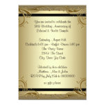 Fiesta de aniversario elegante del boda del oro comunicados personalizados