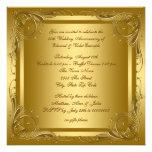 Fiesta de aniversario elegante del boda del oro anuncio personalizado