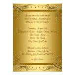 Fiesta de aniversario elegante del boda del oro comunicado