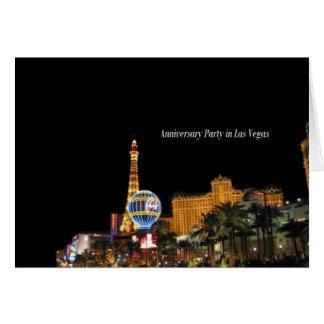 Fiesta de aniversario en la tarjeta de Las Vegas