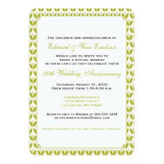 Fiesta de aniversario floral de la diversión invitación 12,7 x 17,8 cm