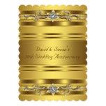 Fiesta de aniversario pura del boda del oro 50.o comunicados personalizados