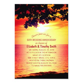 Fiesta de aniversario rústica del boda de playa de invitación 12,7 x 17,8 cm