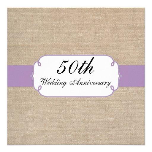 Fiesta de aniversario violeta y beige del vintage  invitacion personalizada