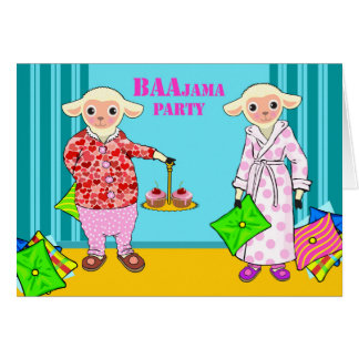 Fiesta de BAAjama, invitación linda del fiesta de