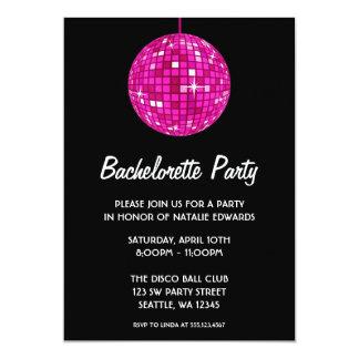 Fiesta de Bachelorette de la bola de discoteca de Invitación 12,7 X 17,8 Cm