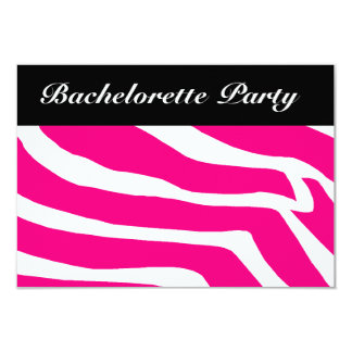 Fiesta de Bachelorette de la cebra Invitaciones Personales