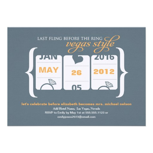 Fiesta de Bachelorette de la máquina tragaperras e Invitaciones Personalizada