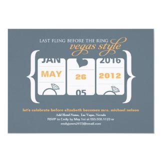 Fiesta de Bachelorette de la máquina tragaperras Invitación 12,7 X 17,8 Cm