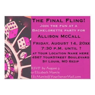 Fiesta de Bachelorette del casino de Las Vegas Invitación 13,9 X 19,0 Cm