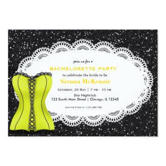 Fiesta de Bachelorette del corsé Invitaciones Personalizada