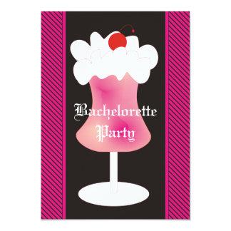 Fiesta de Bachelorette del daiquirí de fresa Invitación 12,7 X 17,8 Cm
