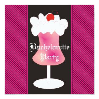 Fiesta de Bachelorette del daiquirí de fresa Invitación 13,3 Cm X 13,3cm