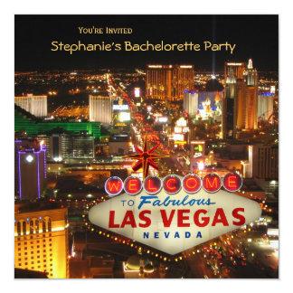 Fiesta de Bachelorette del estilo de Las Vegas Invitación 13,3 Cm X 13,3cm