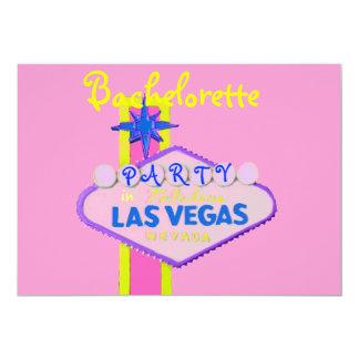 Fiesta de Bachelorette en Las Vegas Invitacion Personalizada