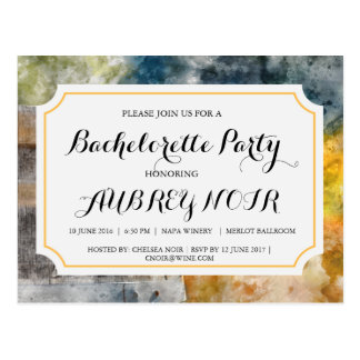 Fiesta de Bachelorette para el boda del viñedo o Postal