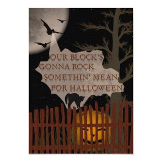 Fiesta de barrio de Halloween Invitación 12,7 X 17,8 Cm