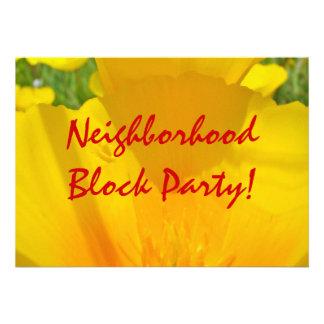 ¡Fiesta de barrio de la vecindad Invitaciones Ann