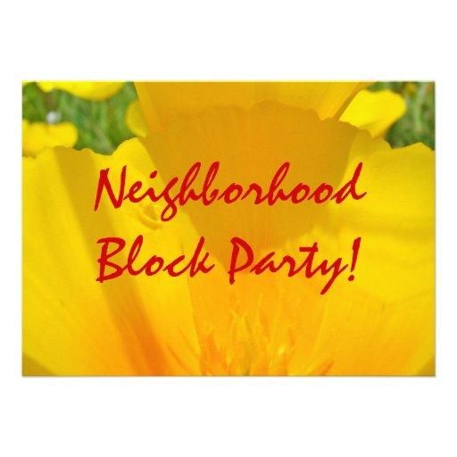 ¡Fiesta de barrio de la vecindad! Invitaciones Ann Invitaciones Personales