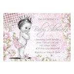 Fiesta de bienvenida al bebé adorable del rosa del anuncios personalizados