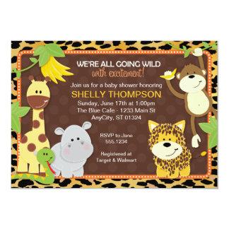 Fiesta de bienvenida al bebé anaranjada Invitati Invitación 12,7 X 17,8 Cm