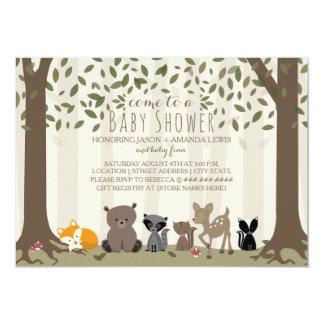 Fiesta de bienvenida al bebé animal de la familia invitación 12,7 x 17,8 cm