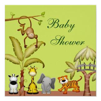 Fiesta de bienvenida al bebé animal de la invitación 13,3 cm x 13,3cm