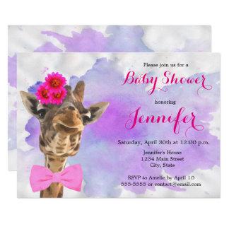 Fiesta de bienvenida al bebé animal del chica de invitación 12,7 x 17,8 cm