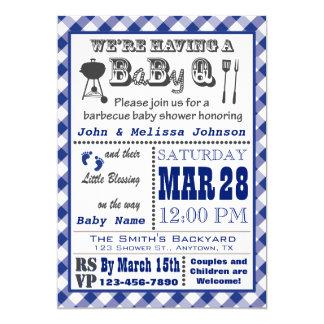 Fiesta de bienvenida al bebé azul de BaByQ de la Invitación 12,7 X 17,8 Cm