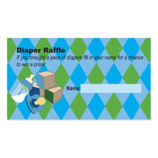 Fiesta de bienvenida al bebé azul del boleto de la tarjetas de visita