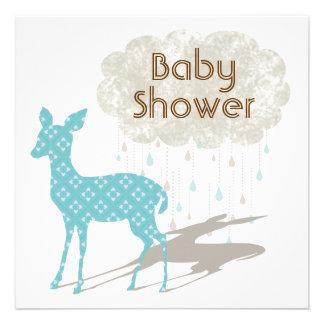 Fiesta de bienvenida al bebé azul Inviation de Bam Invitacion Personal
