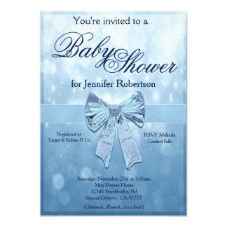 Fiesta de bienvenida al bebé azul invitación 12,7 x 17,8 cm