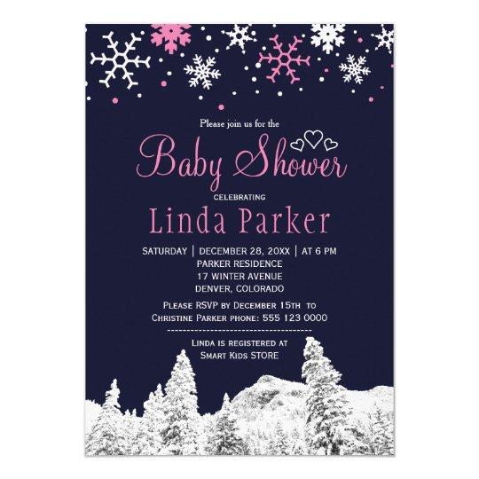 Fiesta de bienvenida al bebé blanca rosada del invitación 12,7 x 17,8 cm