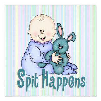 Fiesta de bienvenida al bebé chistosa comunicado personalizado