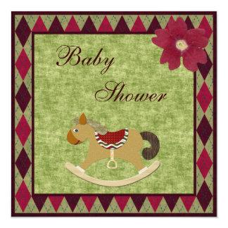 Fiesta de bienvenida al bebé con clase de Argyle Invitación 13,3 Cm X 13,3cm