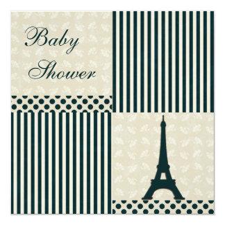 Fiesta de bienvenida al bebé con clase del neutral invitación 13,3 cm x 13,3cm