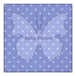 Fiesta de bienvenida al bebé con el azul 3 de la invitación 13,3 cm x 13,3cm