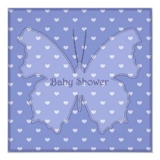 Fiesta de bienvenida al bebé con el azul 4 de la invitación 13,3 cm x 13,3cm