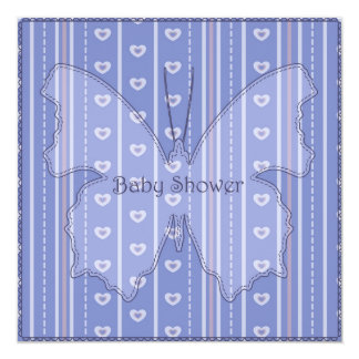 Fiesta de bienvenida al bebé con el azul 5 de la invitación 13,3 cm x 13,3cm
