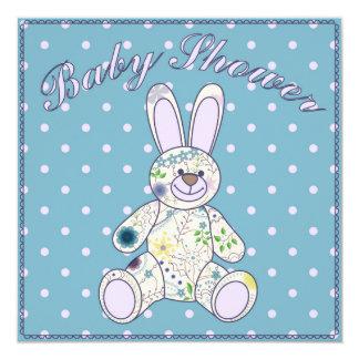Fiesta de bienvenida al bebé con el azul del invitación 13,3 cm x 13,3cm