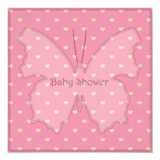Fiesta de bienvenida al bebé con rosa de la invitación 13,3 cm x 13,3cm